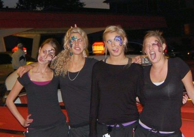 Staff with face painting
