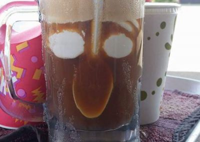 The smiling rootbeer float