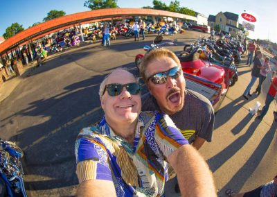 Fisheye lens of Rudys Drive-In