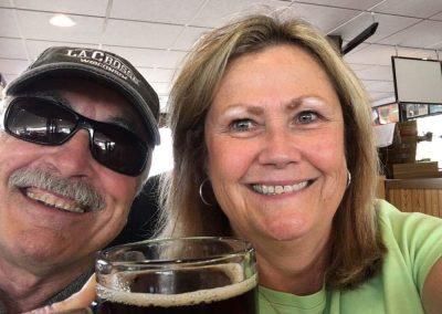 Happy couple enjoying rootbeer