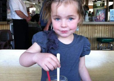 Girl enjoying her rootbeer float
